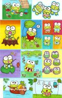 Keroppi Sketch Cards by chibimonkies