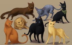 Dragon Age 2 Cats by Mipeltaja
