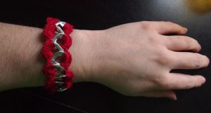 Crochet Zig Zag Pop Top Bracelet by DearAngelTori