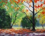 Dappled Autumn Light by artsaus