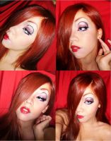 Jessica Rabbit makeup by Amaterasumikami