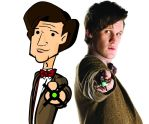 11th doctor and cartoon by CPD-91