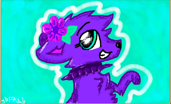 an art thingy i made on the aj studio :D by Midnight-Absol