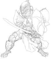 D+D4th: Death Knight- Line Art by ChristopherStevens