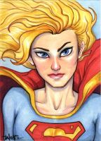 Sketchcard: Supergirl by Everwho