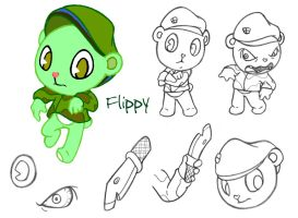 Flippy the Bear -HTF chara by lolykat