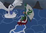 Shock On The Great Sea - Lugia by CosmicSprinkles