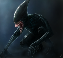 Final Xenomorph,Prometheus by Lordarkrai