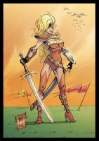 Warrior Girl - Colors by Rexbegonia