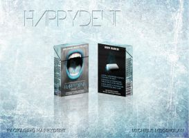 HAPPYDENT WHITE -chewing gum- Pack Concept by mikymeg