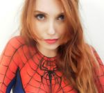 Spiderman makeup bodypaint cosplay by marymakeup
