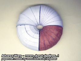 Papercraft Advance Wars Donut Pipeline by ninjatoespapercraft