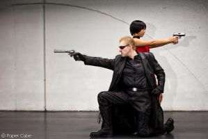 Albert Wesker and Ada Wong - Resident Evil by Paper-Cube