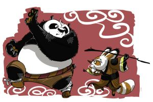 Po and Shifu by galgard