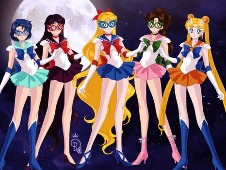 Sailor V and her crew by Lovely-Girl-10