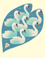 seven swans a-swimming by littlemotorcar