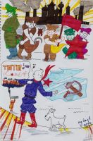 Tintin re-visits the soviets by Ad1er
