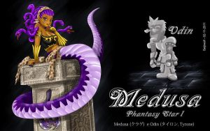 Medusa - Phantasy Star 1 by seijiwolf