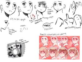 How to draw somewhat like Himaruya manga style! by Westlywheatly