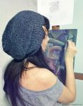 Painting Wrapped in thoughts by delira