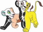 Day of the Dead Cud Simba and Nala by pegfan