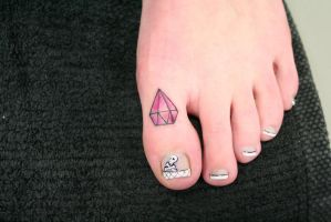 Brilliant on a toe Tattoo by 2Face-Tattoo