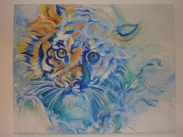 water tiger paint by always-foreverlilly