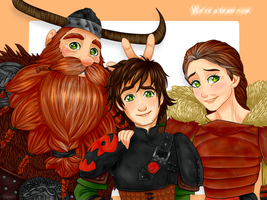 .HTTYD2: Meet the Haddocks. by Kikuri-Tan