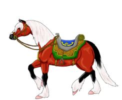 Epona with TP tack by DrMario64