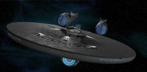 USS Enterprise render2 by trekmodeler