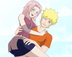 NaruSaku picture by CloverSama