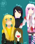All my Ocs and me by Lesonay