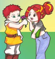 Gaara and Sarah by IronicChoice