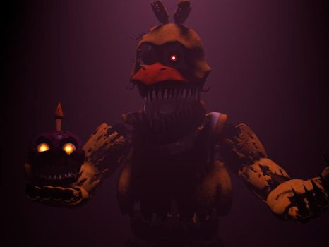 [C4D/FNAF]Nightmare Chica teaser (my version) by Mrspringy1997