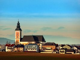 The village church of Sankt Peter am Wimberg I by patrickjobst