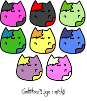 Gatitos Kitty's by GreenMich