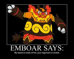 Emboar Motivational poster XD