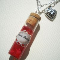 Love Potion - Bottle Necklace by Nite0wlStudios