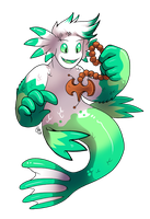Commission - Merman with Prayer Beads by raizy