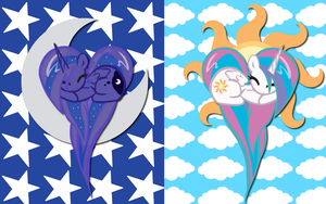 Alicorn Hearts WP by AliceHumanSacrifice0