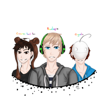 cinnamon toast ken, pewdiepie and cryaotic by Tip-the-cat