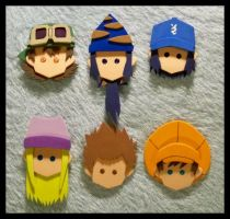 Pins - Digimon Frontier by GwydionAE