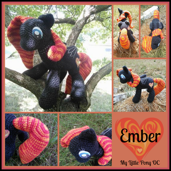 Ember - My Little Pony OC Plushies by VelvetKey