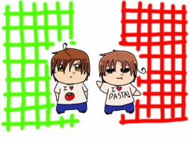 Chibi Italy Bros .::APH::. by goodlucklight