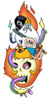 adventure time temporary tattoo design by lanbridge