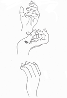 I wish I'd stop drawing hands... by Mii-riam