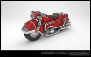 Motorcycle 3D Model -Beauty Render 2 Final by LiamGolden