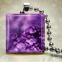 'lilac.' Glass Pendant by HipsterDesigns