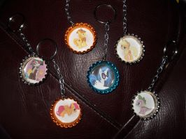 Pony Bottle Cap Keychains 2 by Dark-Sith-Angel