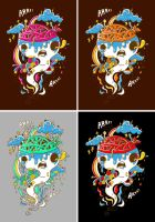 Zombie Genie Tshirt Ideas by SuperFex